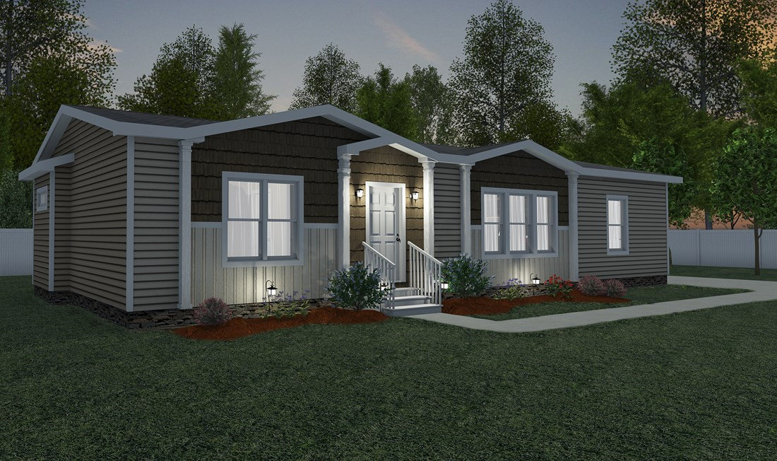 The THE WASHINGTON Exterior. This Manufactured Mobile Home features 3 bedrooms and 2 baths.