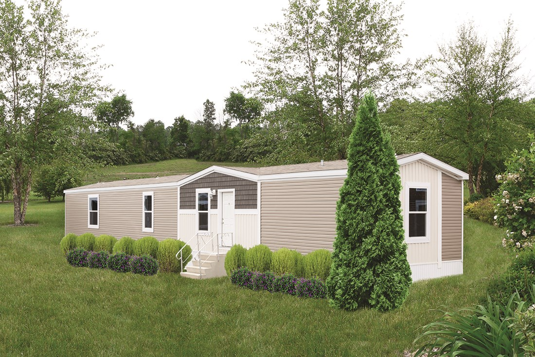 The VSN 8016-1680 VISION I Exterior. This Manufactured Mobile Home features 3 bedrooms and 2 baths.