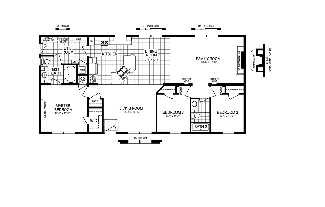 The TRUMAN 5628-68 Floor Plan