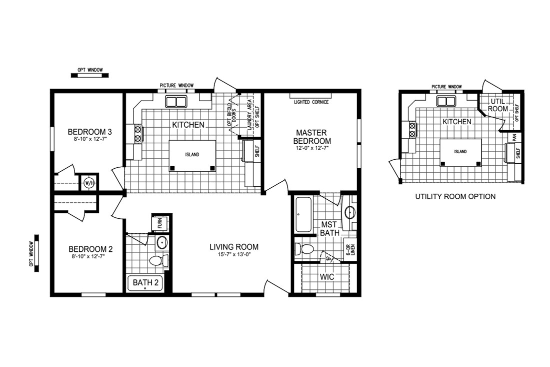 The CEDARCROFT 4028-200 Floor Plan