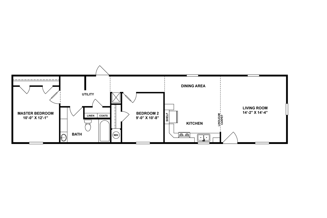The WOODMONT 6416-7000 Floor Plan