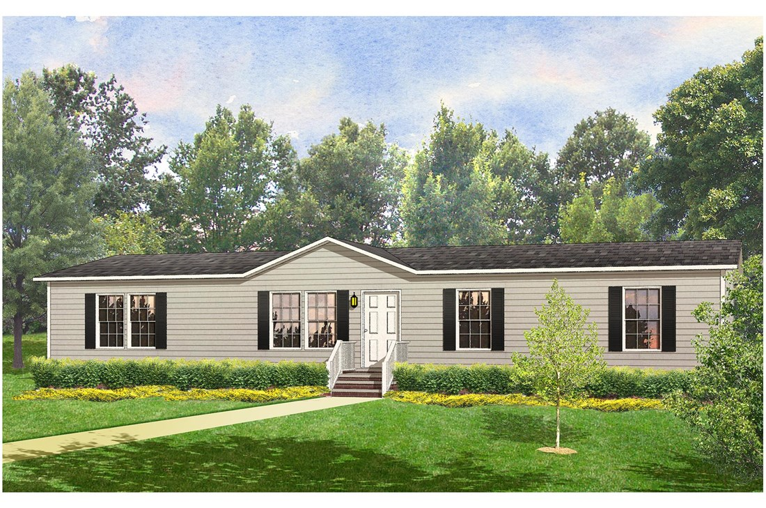 The FULTON 6028-2557D Exterior. This Manufactured Mobile Home features 3 bedrooms and 2 baths.