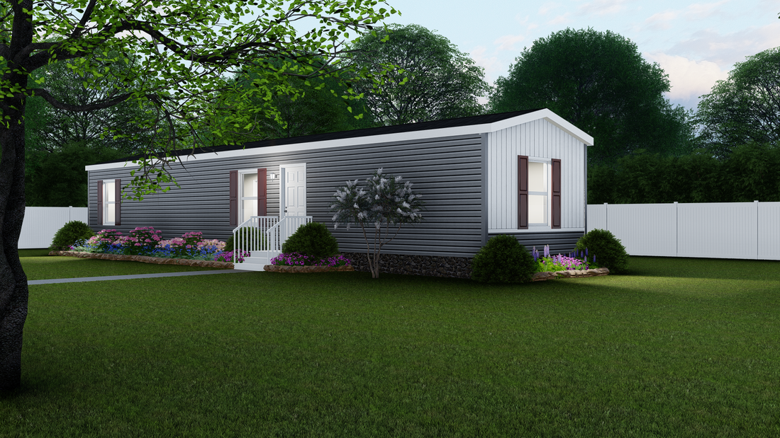 The BEECH 6414-60 Exterior. This Manufactured Mobile Home features 3 bedrooms and 1 bath.