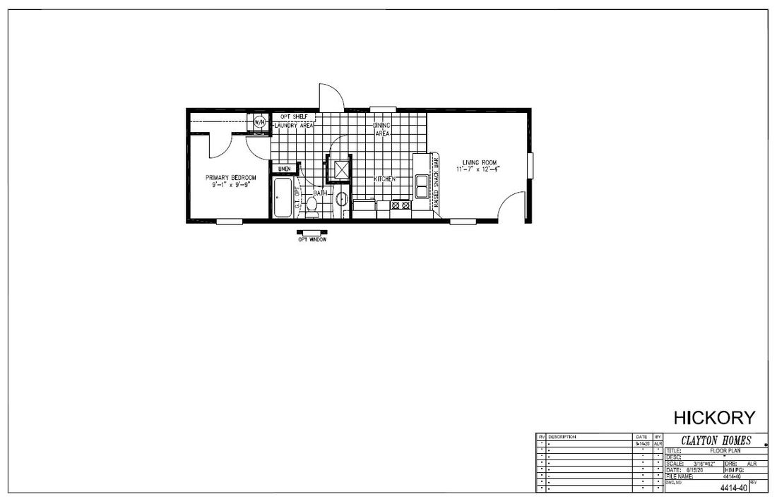The HICKORY 4414-40 Floor Plan