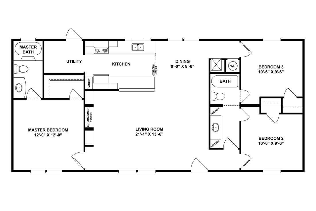 The MAGNOLIA 5024-50 Floor Plan