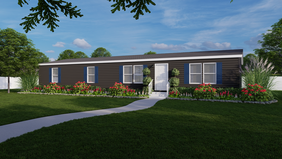 The DELMARVA 6428-500-6 Exterior. This Manufactured Mobile Home features 3 bedrooms and 2 baths.