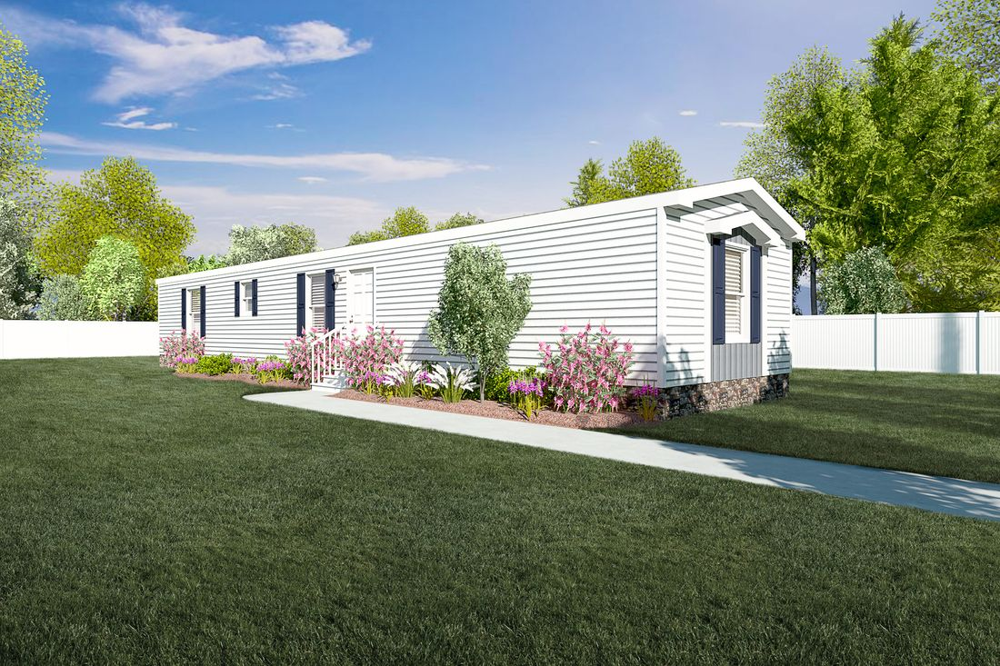 The SAPPHIRE Exterior. This Manufactured Mobile Home features 3 bedrooms and 2 baths.