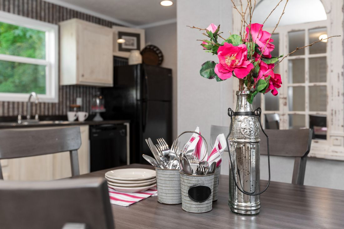 The SAPPHIRE Kitchen. This Manufactured Mobile Home features 3 bedrooms and 2 baths.