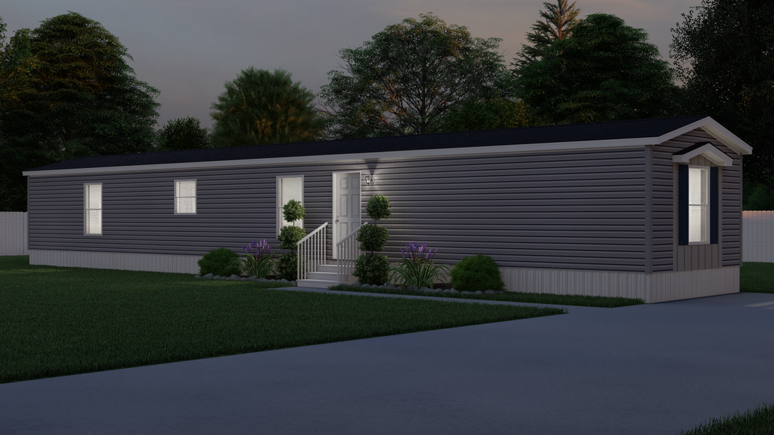 The LEXINGTON 7614-1792 Exterior. This Manufactured Mobile Home features 3 bedrooms and 2 baths.