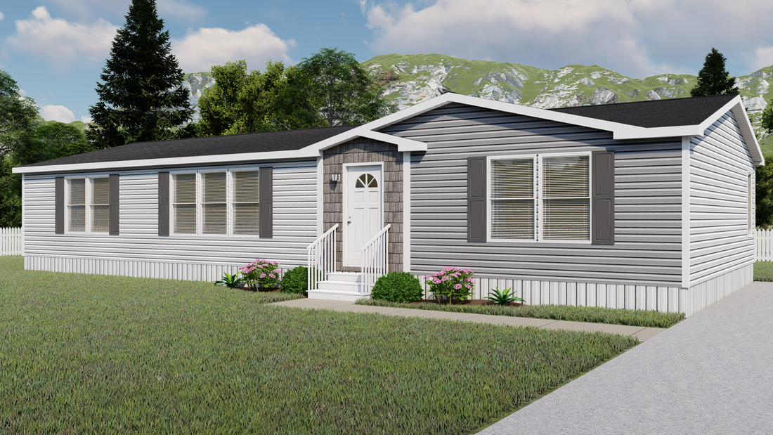 The HUDSON 6028-1680 Exterior. This Manufactured Mobile Home features 3 bedrooms and 2 baths.