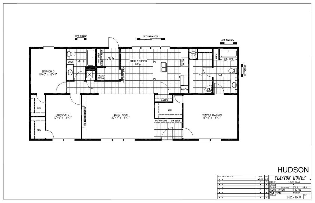The HUDSON 6028-1680 Floor Plan