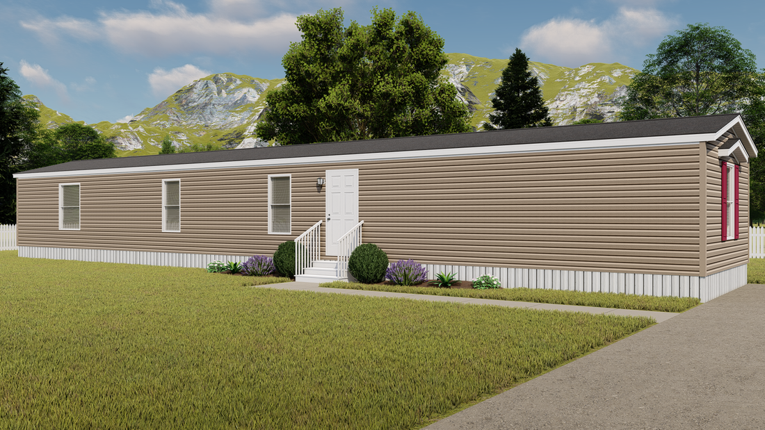 The DIAMOND Exterior. This Manufactured Mobile Home features 3 bedrooms and 2 baths.