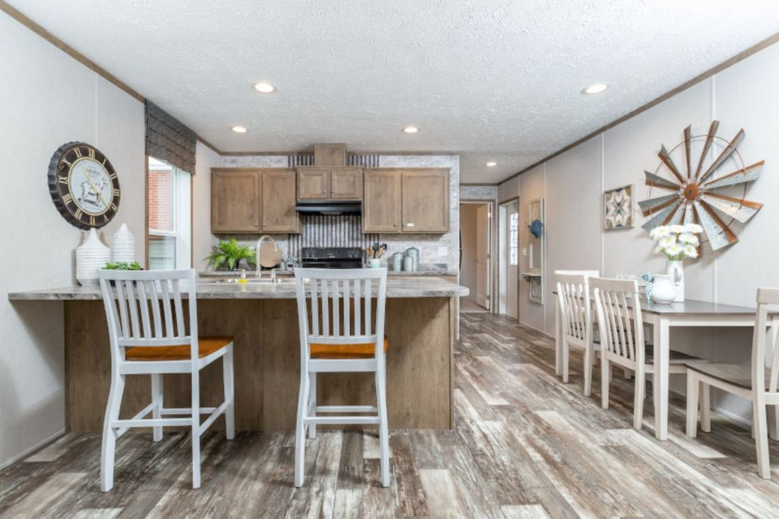 The DIAMOND Kitchen. This Manufactured Mobile Home features 3 bedrooms and 2 baths.