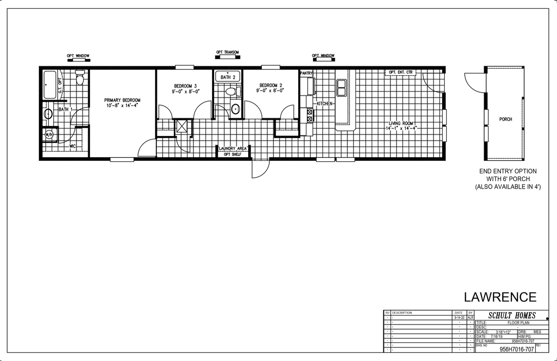 The LAWRENCE 7016-707 Floor Plan