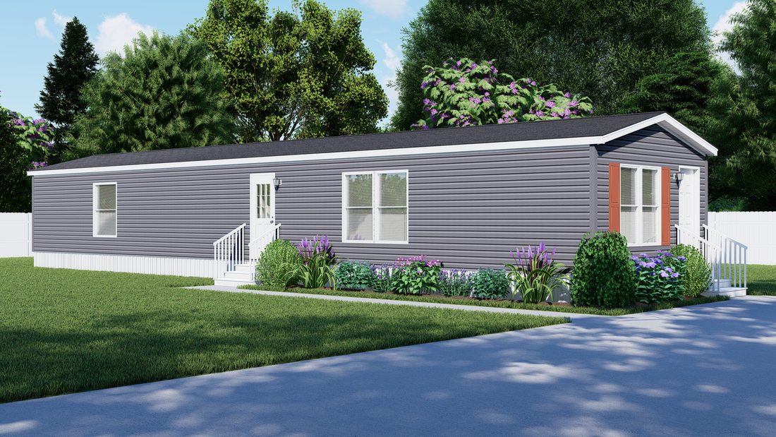 The LAWRENCE 7016-707 Exterior. This Manufactured Mobile Home features 3 bedrooms and 2 baths.